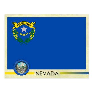 Bandera y sello del estado de Nevada Tarjetas Postales