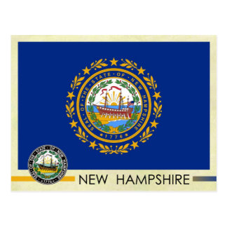 Bandera y sello del estado de New Hampshire Postal