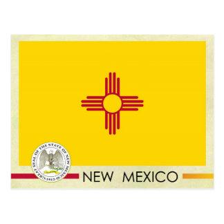 Bandera y sello del estado de New México Tarjeta Postal