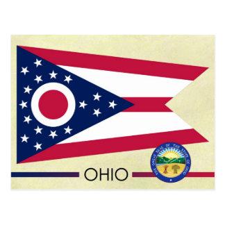 Bandera y sello del estado de Ohio Tarjeta Postal
