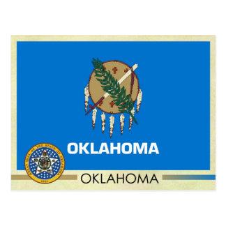 Bandera y sello del estado de Oklahoma Tarjeta Postal