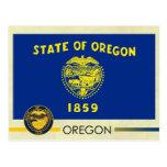 Bandera y sello del estado de Oregon Postales