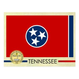 Bandera y sello del estado de Tennessee Tarjetas Postales