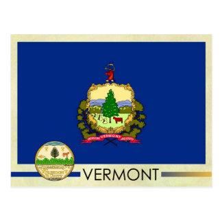 Bandera y sello del estado de Vermont Postal