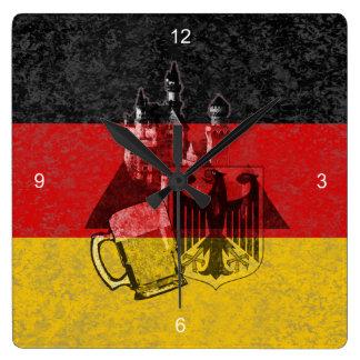 Bandera y símbolos de Alemania ID152 Reloj Cuadrado