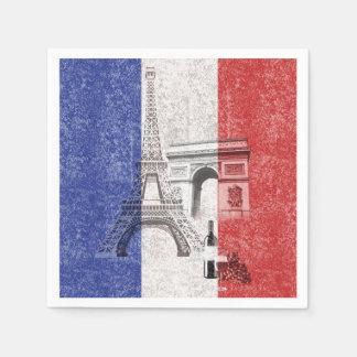 Bandera y símbolos de Francia ID156 Servilleta De Papel