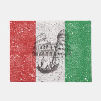Bandera y símbolos de Italia ID157 Felpudo