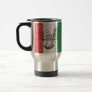Bandera y símbolos de Italia ID157 Taza De Viaje