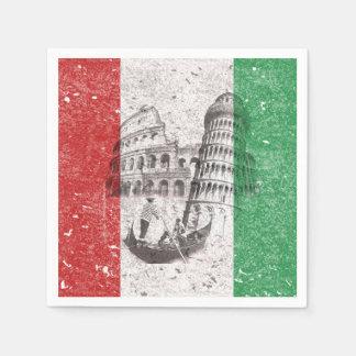 Bandera y símbolos de Italia Servilleta De Papel