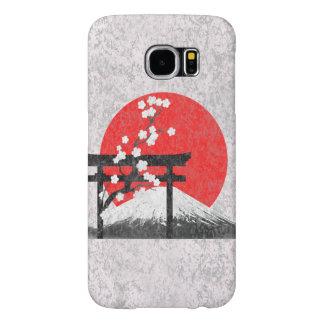 Bandera y símbolos de Japón ID153 Funda Samsung Galaxy S6