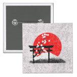 Bandera y símbolos de Japón ID153 Pin Cuadrado