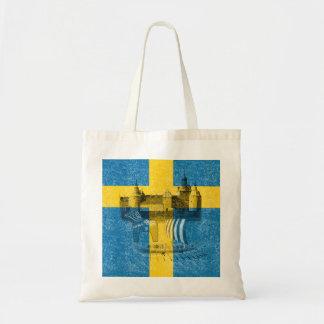 Bandera y símbolos de Suecia ID159 Bolsa Tela Barata