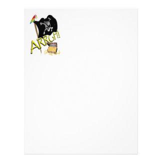 Bandera y tesoro del cráneo y de pirata de la band tarjeta publicitaria