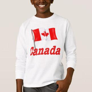 Bandera y texto canadienses polera