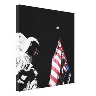 Bandera y tierra lona envuelta para galerías