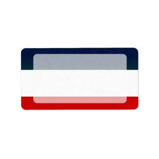 Bandera yugoslava pelada moderna etiqueta de dirección