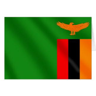 Bandera zambiana de los campeones 2012 del fútbol  tarjetas