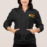 Bandera zimbabuense pelada moderna chaqueta imprimida