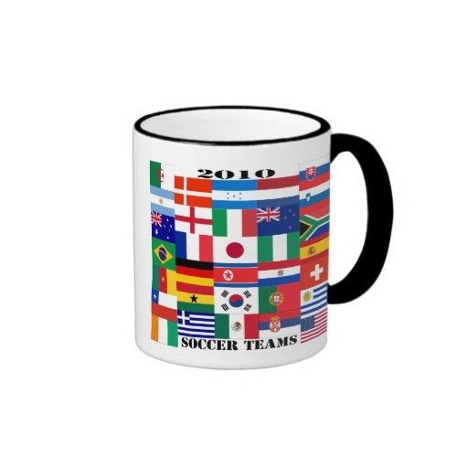 Banderas 2010 de los equipos de fútbol taza de dos colores