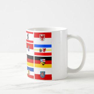 Banderas alemanas del estado de los Lander Taza