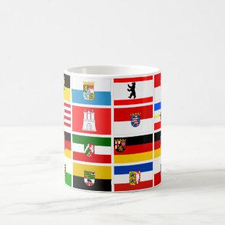 Banderas alemanas del estado de los Lander Taza Clásica