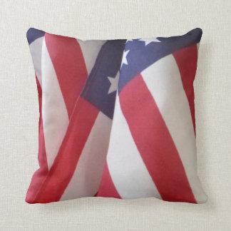 """Banderas americanas 16"""" almohada de tiro cuadrada"""