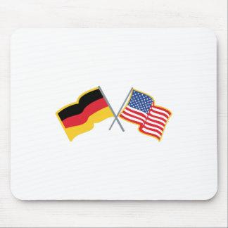 Banderas americanas alemanas tapetes de ratones