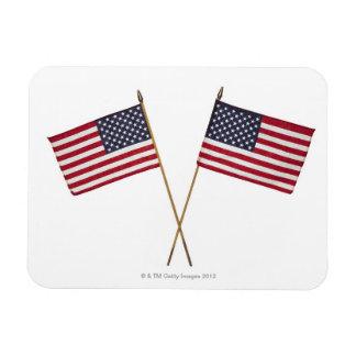 Banderas americanas imanes de vinilo