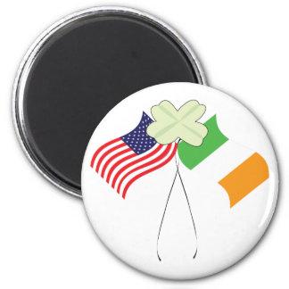 Banderas americanas irlandesas imán