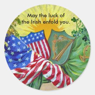 banderas americanas irlandesas