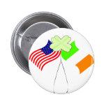 Banderas americanas irlandesas y trébol del KRW Pins