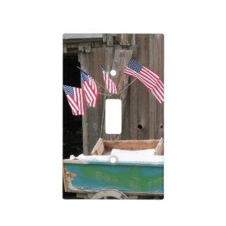 Banderas americanas patrióticas - viejo interrupto tapa para interruptor