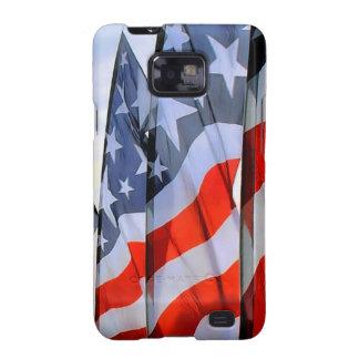 Banderas americanas Samsung Barely There Samsung Galaxy SII Carcasas