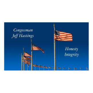 Banderas americanas tarjetas de negocios