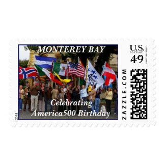 Banderas - BAHÍA de MONTEREY Timbre Postal