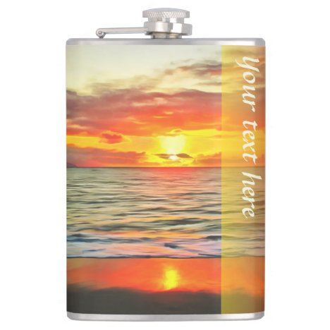 Banderas Bay Sunset 1738 Flask