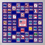 BANDERAS BLUE/555 DEL ESTADO DE LOS E.E.U.U. 50 POSTER