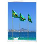 Banderas brasileñas felicitación