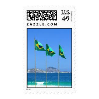 Banderas brasileñas sellos