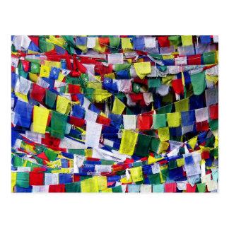 Banderas budistas tibetanas del rezo postal