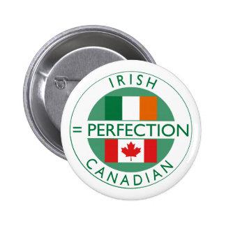 Banderas canadienses irlandesas de la herencia pin