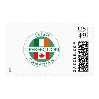 Banderas canadienses irlandesas de la herencia timbres postales