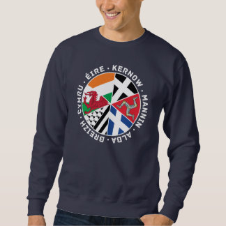 Banderas célticas camiseta, isla de las naciones sudadera con capucha