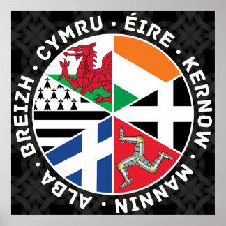 Banderas célticas de las naciones impresiones