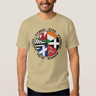 Banderas célticas de las naciones playera