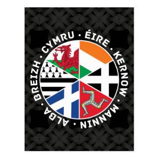 Banderas célticas de las naciones tarjeta postal