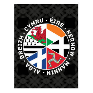 Banderas célticas de las naciones tarjetas postales