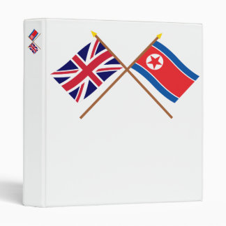 """Banderas cruzadas BRITÁNICAS y de Corea del Norte Carpeta 1"""""""