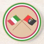 Banderas cruzadas d'Aosta de Italia y de Valle Posavasos Personalizados