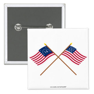 Banderas cruzadas de Alliance de Bennington y de l Pin